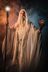 Saruman (adenry) Tags: cosplay costume portrait aniventure saruman lordoftherings thelordoftherings lord rings white staff eye smoke dark studio