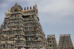 3 Gopurams (Scalino) Tags: india tower temple south sri tamil tamilnadu inde nadu trichy dravidian gopuram tiruchirapalli ranganathaswamy trichinopoly cheesenaan dravidien