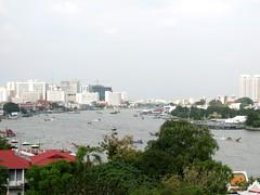 Bangkok and the river (astroboy_71) Tags: travel urban color colour water colors river thailand colorful asia southeastasia colours view bangkok watarun chaophrayariver southeastasiaimages
