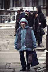 (The New Motive Power) Tags: road street old city people urban woman blur cold walking thought sofia bulgaria activity   canon7d