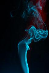 Smoke (Snowykate) Tags: blue red macro smoke smoking incense nikond200 macromondays macromonday nikonafmicronikkor60mmf28