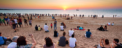 The love of a good sunset (Louise Denton) Tags: sunset holiday beach nt australia darwin tourists event together mindilbeach amomentshared watchthesunset