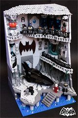 The BATCAVE (Fianat) Tags: castle rock dark batcave lego space bruce bat batman knight l cave the