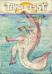 8-18tessy (biketheak) Tags: california lake monster tattoo sketch tahoe doodle creature myth tessie mastodon tessy