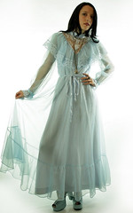 Victorian Inspired Pale Blue Chiffon & Ornamental Lace Ruffled Gown Full Length Front Displayed (mondas66) Tags: ruffles dress lace victorian chiffon dresses romantic gown elegant gowns ornate ornamental lacy sheer frilly elegance ruffle frills frill ruffled lacework frilled frilling frillings befrilled