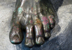 Apollonius, Boxer at Rest, detail with toes