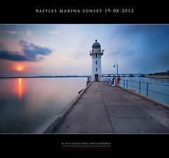 Raffles Marina Sunset 19-08-2012 #8 (kuantoh) Tags: sunset lighthouse marina boats landscapes nikon seascapes harbour dusk jetty lee filters raffles ruralscapes gnd d700