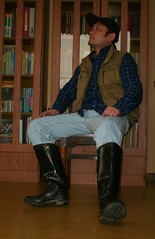 The wellies (Imitation from Russia)were made in China in1960. my favorite. () Tags: man male guy boots manly handsome mens wellies rubberboots wellingtons hunters mensclothes asianguy sexymen