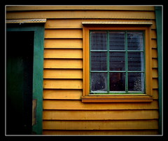 Backyard (+PeterCH51+) Tags: house green window yellow norway wooden backyard historic bergen scandinavia bryggen mystic hanseatic mywinners peterch51