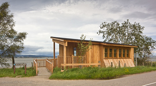 New hide at Udale Bay RSPB Reserve