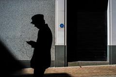 (Matt Obrey) Tags: street man colour hat architecture birmingham shadows hand walk streetphotography x100 birminghamstreet fujix100