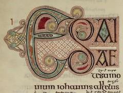 Lindisfarne Gospels Initial (manuscript_nerd) Tags: medieval celtic calligraphy lindisfarne gospels mahuscript