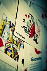 309/365. A Joker In The Pack. (Anant N S) Tags: india macro monster photography cool kitlens batman joker 1855 nikkor pune playingcards villian macrophotography diopter thejoker thedarkknight macrofilter packofcards jokerinthepack nikond3000 lensor anantns thelensor anantnathsharma seeimnotamonsterimjustaheadofthecurve