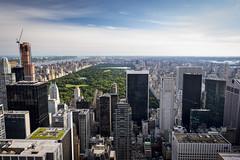 Good Morning Manhattan (PhiiiiiiiL) Tags: park city nyc morning sun west rock observation nikon day view top side central center east deck upper stadt rockefeller sonne morgen topoftherock ausblick d800e pwpartlycloudy