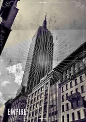 Empire (Samicorn) Tags: nyc newyorkcity bw newyork midtown empirestatebuilding iphone photoapp phoster