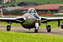 De Havilland DH 112 Venom (Sébastien Locatelli) Tags: plane de nikon force swiss aviation air airshow dh di 70300mm tamron stephan 112 vc berner afs usd 2012 sankt venom oberland luftwaffe lenk simmental havilland hunterfest d5000