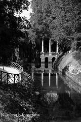 Loggia (Pen_sieri) Tags: park bw parco white black reflection water buildings acqua bianco nero vicenza riflesso loggia