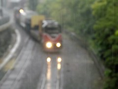 Rainy PR2 in Woonsocket ( Focused on the Rain ) (Jamie 17) Tags: road railroad yards signs water rain yard train photography lights photo flickr track power flat tracks rail trains scene dot providence crew rainy engines transportation passenger switches digitalphoto worcester tankers pw hoppers woonsocket fugi didital equiptment flickrphoto pr2 carsrail alltypesoftransportation carcovered fantracktraintransportationpassengerpassenger hopperlumber carethanolfreightfreight fugicameradigitalcamera traineqiuptmentmowcrossing