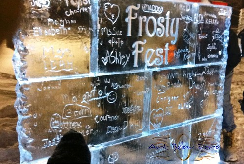 Interactive Graffity Ice Wall at Frosty Fest Ice Sculpture