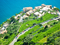 RAVELLO VIEW#1 (abusen) Tags: blue sea italy green yellow hills lanscape ravello amalfi
