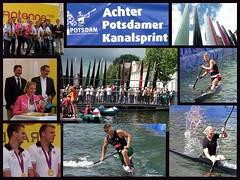 kanalsprint (fotoknipsin) Tags: water sport collage wasser olympia veranstaltung kanu potsdam kajak prominenz kanalsprint