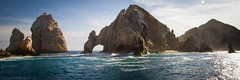 El Arco at Sunset (les abeyta) Tags: blue sunset panorama green beach landscape mexico cabo arch wave pacificocean cabosanlucas bcs elarco supershot