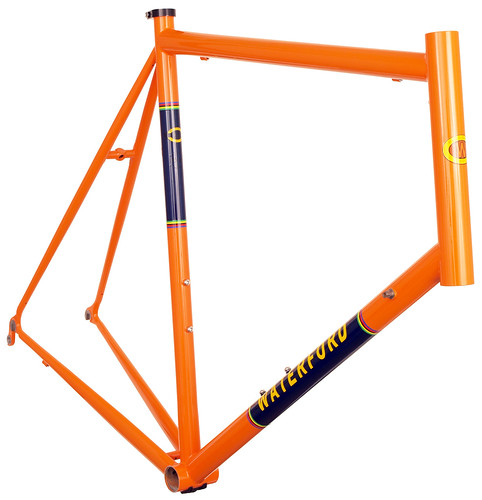 <p>Waterford 14-Series Vision frame with 1980's Eddy Merckx Orange styling - 63981.</p>
