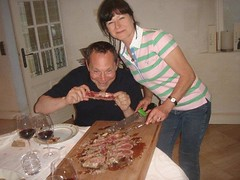Jean Luc and Murielle Thunevin get ready for dinner