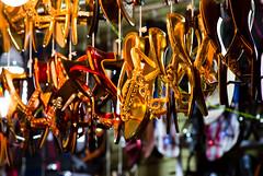 The Bazaars of Hyderabad (Cranti) Tags: shop colorful shops bazaar hyderabad slippers charminar chappal kranthi ramzaan laadbazzar