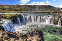 Goafoss (Fil.ippo) Tags: longexposure travel fall water island waterfall iceland nikon nd viaggi hdr filippo waterscape godafoss cascata islanda d5000