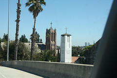 Classic California (twm1340) Tags: california ca church steeple hollywood freeway exit offramp