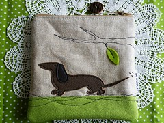 dackel-pouch (monaw2008) Tags: dog tree leave ast handmade hund pouch applique dackel applikation dachshound monaw monaw2008