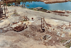 Diffuser Train - Foundations ... 13th Oct 1981 (srv007) Tags: concrete construction scan foundation queensland bundaberg formwork milldam fairymeadsugarco canediffuser diffusertrain concreteplinth