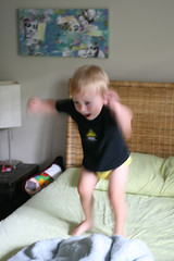(mightymarce) Tags: september quinn 2012 jumpingonthebed