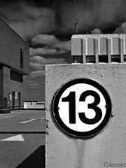 lucky level 13 (justyourcofchi) Tags: park city sky bw white black building texture car clouds dark town model architechture flickr cityscape fuji photographer centre number f30 level lucky finepix 13 thirteen multistory aldershot chiarnold justyourcupofchicom justyourcupofchi