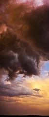 storm on the plain 1 (undernier) Tags: sunset sky storm france clouds de soleil burgundy ciel nuages plain bourgogne orage couch plaine