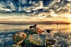 Der Meteorit (dubdream) Tags: ocean morning sea seascape beach water germany landscape see boat nikon meer wasser ngc balticsea fisheye mole ostsee hdr schleswigholstein d300 heiligenhafen colorimage weltuntergang sigma10mm strandhusen dubdream