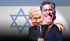 Mitt and Bibi coordinated campaign
