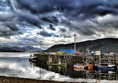 Ullapool harbour (Hughsie36) Tags: reflection scotland harbour hdr ullapool ullapoolscotlandseahills