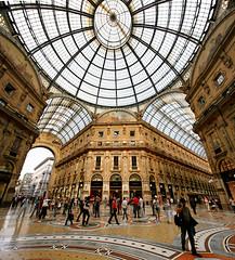 Galleria Vittorio Emanuele II (lsalcedo) Tags: ptgui milanitaly galleriavittorioemanueleii vertorama
