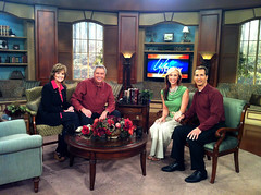 Gwen & Brad Smith on Life Today Set with James & Betty Robison