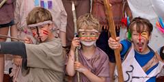 Pre-Raft Race Line-Up (lens buddy) Tags: uk sport canon fun glamour somerset rafting fancydress muchelney langport thorney eos50d rafti eos7d sydenhamcameraclub crazyrafting lowlandgames2012
