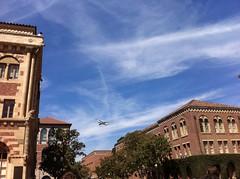 "Shuttle Endeavour flies over Bovard (USC   University of Southern California) Tags: max history airplane over southern flies usc endeavor california"" ""university ""president nikias ""endeavor ""cl usc"" nikias"""
