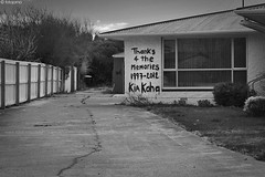 291/365:  Ghost town (Fotojorno) Tags: red christchurch house monochrome town earthquake ghost crack abandon memory gloom phrase residence zone project365 kiakaha