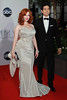 Christina Hendricks and Geoffrey Arend 64th Annual Primetime Emmy Awards, held at Nokia Theatre L.A. Live - Arrivals Los Angeles, California