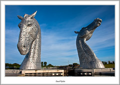 Kelpies In Morning Sunshine (flatfoot471) Tags: 2015 canal falkirk forthandclydecanal forthvalley normal scotland sculpture stirlingshire summer thekelpies unitedkingdom stirlinghshire
