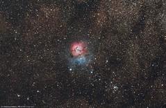M20 Trifid Nebula (Salvatore Cozza) Tags: m20 m21 ngc6514 trifidnebula ngc6531