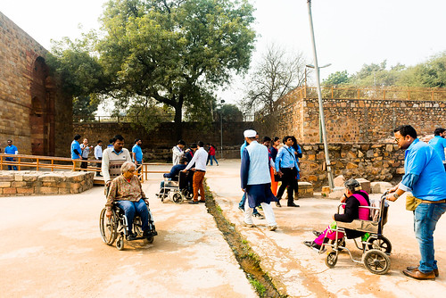 Accessible Tour of Qutub Minar: Travellers enjoying the tour.
