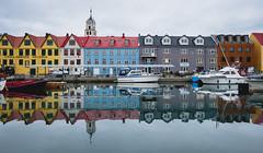 Trshavn, Faroe Island (Sunny Herzinger) Tags: fujixpro2 architecture travel faroeislands reflection north city boat discouver europe capital haven trshavn streymoy fo