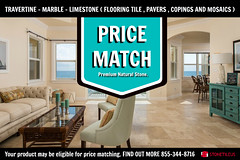 PRICE MATCH TRAVERTINE FRENCH PATTERN TILE